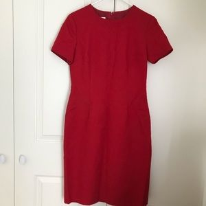 Classic Talbots Red Wool Dress